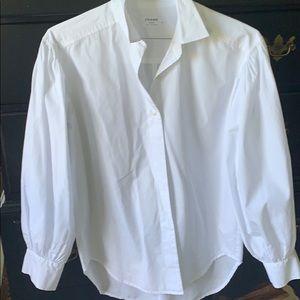 Frame White Button Down shirt, S
